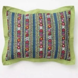 Anthropologie Wildfield Standard Pillow Sham Cover